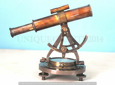 VINTAGE BLACK ANTIUQE ALIDATE TELESCOPE WITH COMPASS SHIP NAVIGATION GIFT ITEM.