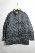 NICKELSON NMF0004 MENS QUILTED BUCKLE COLLAR BLACK COAT JACKET