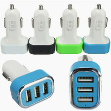 3 Ports USB Car Auto Charger Adapter For Mobile Phone