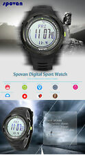 Men's Digital Watch Altimeter Weather Forecast Compass Barometer 5ATM Wristwatch