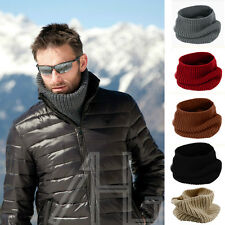 Mens Womens Ladies Neck Warmer Snood Chunky Knit Knitted Winter Soft Ski Scarf