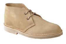 Ladies New Lace Up Real Suede Comfort Desert Ankle Boots Light Taupe Beige