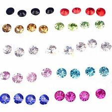 Clear/Multicolor Round Girls Earrings Hot Ear Studs Crystal Earrings Jewelry