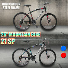 "Cyber MTB Mountain Bike 26inch Shimano Gears 21-Speed Disc Brake Bicycle 17"" AU"