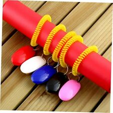 Dog Pet Click Clicker Training Obedience Agility Trainer Aid Wrist Strap DX