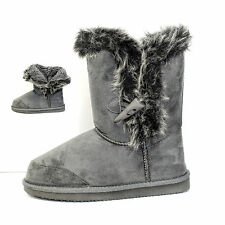 nEW Ladies Slippers Boots Girl Womens Ankle Winter Warm Fur Snow Booties Size
