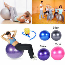 55 65 75cm New Swiss Yoga Ball Pilates Fitness Home Gym Exercise With Pump