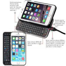 Bluetooth Wireless Slideout Keyboard Case Backlight For Apple iPhone 6 6s 4.7''