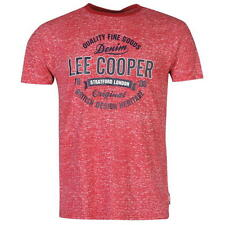 Lee Cooper Mens Textured T-Shirt Red New With Tags