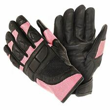 Xelement Women's Cool Rider Black/Pink Mesh Motorcycle Gloves