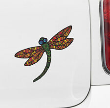 "CLR:CAR - Patterned Dragonfly - Vinyl Car Decal ©2016 YYDC (5""w x4.75""w)(COLORS)"