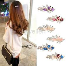 Crystal Rhinestone Butterfly Hair Barrette Clip Women Bride Hair Accessories
