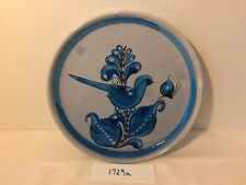 Mexican Folk Studio Art Pottery Dinner Plate Mexico Tonala Signed 6 Available
