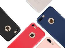 Concise TPU Ultra Thin Matte Case Cover Buckle for iPhone 7 6 6S Plus 5 Color