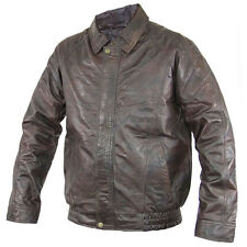 Men's Distressed Brown Bomber Leather Jacket