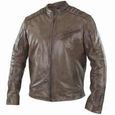 Xelement Omega Men's Distressed Brown Leather Motorcycle Jacket