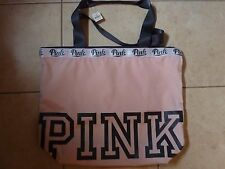 VICTORIAS SECRET PINK FULL ZIP TOTE BAG WEEKENDER PURSE GYM BEACH NWT
