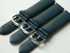 Watch Strap Genuine Leather Water Splash Resistant XL Blue Antiallergic Buckle