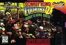 SNES DONKEY KONG COUNTRY 2 Diddy's Quest Video Game Cartridge SUPER NINTENDO