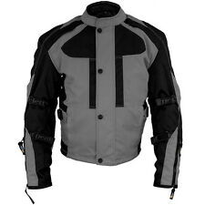 Xelement 'Momentum' Men's Black/Grey Tri-Tex Armored Motorcycle Jacket
