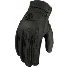 New Icon 1000 Rimfire Leather Riding Gloves
