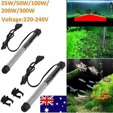 25-300w Stainless Steel Heater Heating Rod Safe For Aquarium Fish Water Tank gag