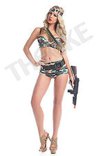 """Be Wicked! Sexy 5 piece """"Army Commando"""" Military Costume Halloween Party NEW"""
