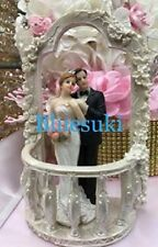 Wedding Balcony with Bride and Groom Cake Top Centerpiece Decoration Choose Item