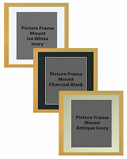 Picture Frame Handemade Square Brushed Bleech 40mm 3 Mount Options 18no Frame