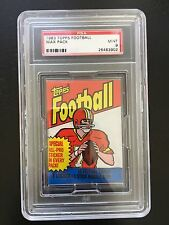 1983 Topps Football Unopened Wax Pack PSA 9 Pop 16 With None Higher