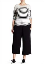 NWT Eileen Fisher Wide Cropped Trouser Pants Milano Viscose Knit S or M $238