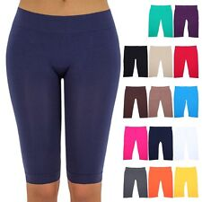 Seamless Basic Solid Knee Length Layering Legging Bermuda Shorts ONE SIZE