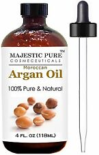 Moroccan Argan Oil For Hair And Face From Majestic Pure (118 Ml) 100% Natural