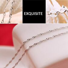 And 45cm Silver Plated Water Wave Ripple Chain Necklaces Fashion Accessories