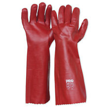 Prochoice PVC GLOVES 45cm 2Pairs, Interlock Line, Single Dipped - Red Or Green