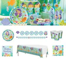 Mermaid Friends Birthday Party Supplies Tableware Plates Cups Napkins Invites