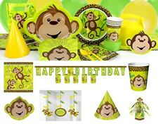 Monkey Monkeying Around Birthday Party Supplies Tableware Plates Cups Napkins