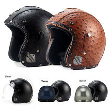 All Season Beyond 3/4 Half Harley Helmet +Bubble Visor DOT Retro Motorcycle M99G