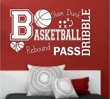 BASKETBALL SPORTS GIRLS COLLAGE WALL ART HOME DECOR VINYL DECAL BEDROOM PLAYROOM