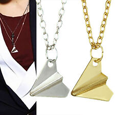 Nice One Direction 1D Harry Styles Paper Airplane Silver & Gold Charms Necklaces
