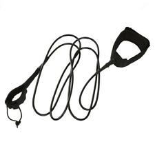 6-10FT Deluxe Surfboard SUP Surf Surfing Leash Leg Rope Cord & Padded Cuff Strap