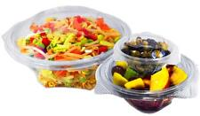 26oz Plastic Disposable Salad Bowl With Lid (750ML)
