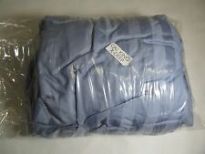 Charter club Damask Stripe 100% Pima Cotton 500Tc Fitted Sheet BLUE CAL King XD