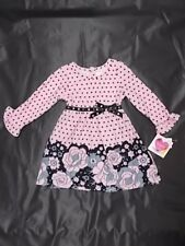 Infant Girls Youngland Baby Pink & Black Dress Size 12 Months - 24 Months