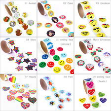 100 pcs Roll Stickers Adhesive Valentines Day Funky Love Heart Smiling Face