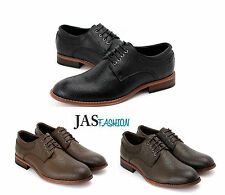 Mens NEW Oxford Casual Smart Shoes Lace Up Formal Derby Office Wedding Size UK