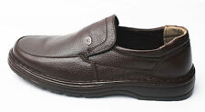 Mens Brown Comfort Loafers Sneaker Slip On Casual Dress Formal Leather Shoes