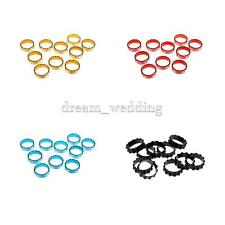 """10Pcs/Pack Bike HEADSET SPACERS 1-1/8"""" BICYCLE Alloy Size 10mm FIXIE BMX MTB"""