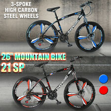 3-Spoke MTB Mountain Bike 26inch Shimano Gears 21-Speed Disc Brake Bicycle 17""