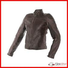 Leather jacket Dainese Mike Lady Dark Brown